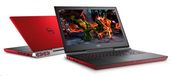 "Dell Inspiron (7567-9354) Red (Intel Core i7 7700HQ 2800 MHz/15.6""/1920x1080/16Gb/1128Gb HDD+SSD/DVD нет/NVIDIA GeForce GTX 1050 Ti/Wi-Fi/Bluetooth/Win 10 Home)"